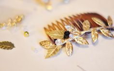 DIY Bejeweled Hair Combs | Pretty Brooches for your Hair | ...love Maegan