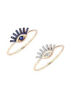 Sapphire or Diamond Evil Eye Rings #jewelry