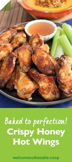 These crispy, sticky-sweet baked hot wings are easy to make and even easier to love. Yummy Chicken Recipes, Yum Yum Chicken, Yummy Food, Honey Hot Wings Recipe, Honey Sriracha Sauce, Buffalo Wings, Wing Recipes, Tandoori Chicken, Chicken Wings