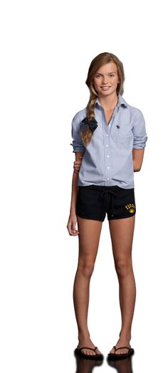 I have these shorts theyre so comfy! abercrombie kids - Shop Official Site - girls - A Looks - summer - text me later.....My Micah
