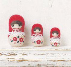 Cute+Needle+Felt+Matryoshka+doll+Mascot+Needle+por+DollyAndPaws