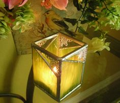 Sage Green Candle Holder by MoreThanColors on Etsy, $32.00