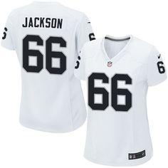 Nike Limited Gabe Jackson White Women's Jersey - Oakland Raiders #66 NFL Road