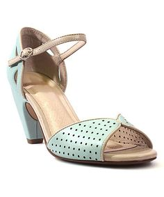 Look what I found on #zulily! Mint Perforated Nicola Pump by Chelsea Crew #zulilyfinds