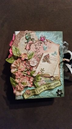 """Graphic45 """"Once upon a springtime"""" envelope Mini album. With a lot of interactive sides. #graphic45 #Mini album #Once upon a springtime"""