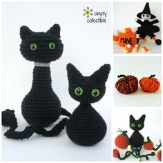 4 Adorable Halloween Crochet Patterns Click HERE to Pin to Pinterest I hope you love this roundup compiled of Simply Collectible Designs by... me. They have been some of my absolute favorite designs. Actually, it's 3 crochet patterns and a yarn craft. (I had to come back and modify it becau