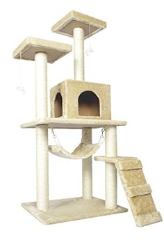 """New Beige 57"""" Cat Tree Condo Furniture Scratch Post Pet House 5777 -- More info could be found at the image url."""