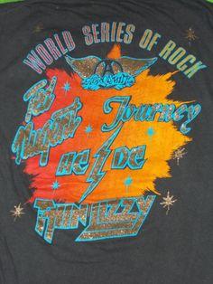 Vtg 1979 AC DC Ted Nugent Journey Aerosmith Thin Lizzy Concert Tour T Shirt   eBay