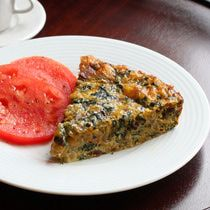 Crustless Quiche  With Swiss Chard and Bacon
