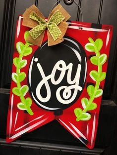 Your place to buy and sell all things handmade Christmas Favors, Christmas Door Decorations, Christmas Wood, Christmas Signs, Christmas Time, Christmas Crafts, Pallet Picture Frames, Wooden Cutouts, Door Hangers