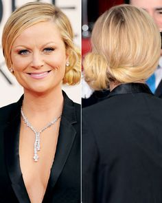 Stylist Secrets to Our Favorite Celebrity Updos: Amy Poehler's Asymmetrical Chignon