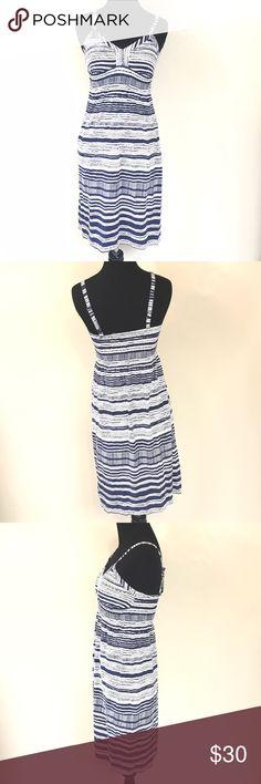 ATHLETA BLUE AND WHITE TRIBAL PRINT DRESS SIZE XS Good condition ATHLETA blue and white tribal print dress size XS Athleta Dresses Mini