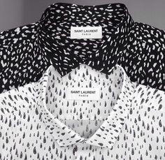 Saint Laurent | black and white button up