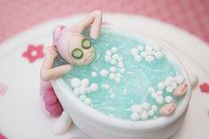 spa cake topper