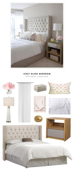 Recreate this romantic blush bedroom for less | copy cat chic room redo budget home decor look for less master bedroom inspiration by @audreycdyer