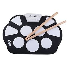Tiangtech Portable Electronic Roll up Drum Pad Kit Silicon Foldable with Stick *** For more information, visit image link.Note:It is affiliate link to Amazon.