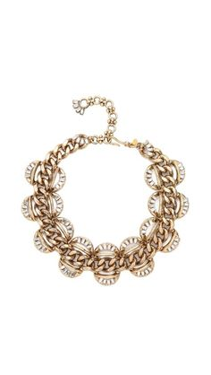 325.00 dollars  Lee Angel Jewelry Crystal Baguette Statement Necklace