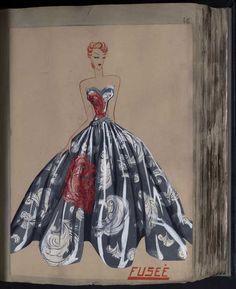 Robe Fusée, Paris 1939, copyright Patrimoine Lanvin #JeanneLanvin #Lanvin