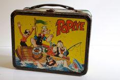 Vintage  1964 Popeye  Metal Lunch Box. $49.00, via Etsy.