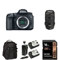 Canon EOS 7D Mark II Digital SLR Camera with 70-300mm Lens, 16GB Memory Card, Extra Battery and Bag ** Want additional info? Click on the image. (This is an Amazon Affiliate link)