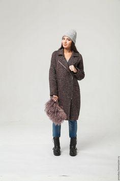 Купить Пальто-косуха с металлической молнией. - купить пальто женское, Пальто ручной работы