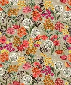 UK fabric company Dashwood Studio is 'Suffolk Garden' by Brie Harrison