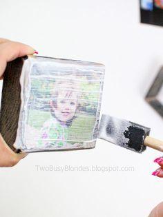 photo +  mod podge + wood = magic !!!