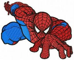 Spiderman climbing 2 machine embroidery design. Machine embroidery design. www.embroideres.com