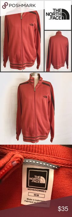 EUC ✨The North Face Mens Sweater ✨Medium Condition ✨Pre-owned, Excellent condition Size ✨Medium  Color ✨ Burnt Orange Brand ✨The North Face Materials ✨Cotton & Polyester Details ✨Thick & Comfy fabric  ✨Please comment with any questions or for meassurement info.   All reasonable offers are welcome, all bundles get a FREE GIFT!! ☺💐 The North Face Sweaters Zip Up