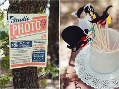 Photo Booth Sign & Props (Provence Wedding) from Wedding Chicks Yard Wedding, Wedding Pins, Wedding Details, Dream Wedding, Wedding Decorations Pictures, Wedding Themes, Wedding Ideas, Provence Wedding, Diy Photo Booth