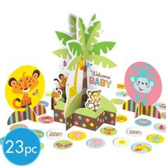 CRYSTAL Quantity three: table centerpiece Fisher Price Baby Shower Centerpiece Kit - Party City