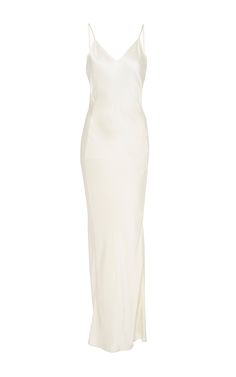 Seamfront Silk Slip Dress  by AWAVEAWAKE for Preorder on Moda Operandi