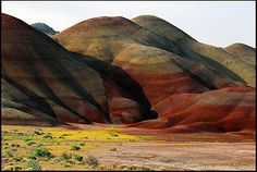Oregon's awesome painted hills.  I've only seen these beautiful hills once and can't wait to go back.