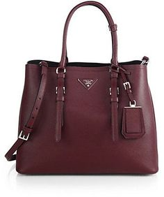 Prada Saffiano Cuir Medium Double Bag on shopstyle.com