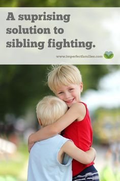 """Ignoring and telling your kids to """"work it out"""" is not going to stop the fighting. Use this surprising technique to solve the sibling fighting in your house! Gentle Parenting, Parenting Advice, Kids And Parenting, Parenting Styles, Sibling Fighting, Fighting Kids, Positive Parenting Solutions, Sibling Relationships, Education Positive"""