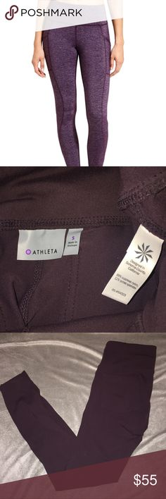 Athleta cassis leggings pants metro high wasted Pockets in the front and on the butt! Great condition :) Athleta Pants