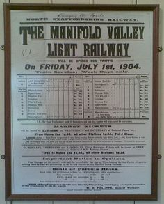 The Leek and Manifold Valley Light Railway (L&MVLR) was a narrow gauge railway in Staffordshire, England that operated between 1904 and 1934. The line mainly carried milk from dairies in the region, acting as a feeder to the 4 ft 8 1⁄2 in (1,435 mm) standard gauge system. It also provided passenger services to the small villages and beauty spots along its route. The line was built to a 2 ft 6 in (762 mm) narrow gauge and to the light rail standards provided by the Light Railways Act 1896 17