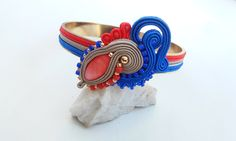 Soutache&metal bracellet by MaNiko https://www.facebook.com/maniko2013