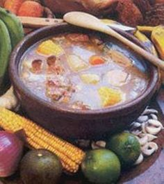 Ajiaco Criollo (Cuban Country-Style Stew) ~ a type of country stew made mostly with root vegetables and flavored with meat. The classic ajiaco includes tasajo (salt-dried beef),while others may have chicken, flank steak, or pork loin. The broth though is always chicken. #Cuba #Food #Ajiaco