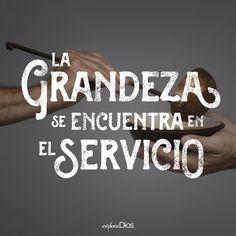 """""""La grandeza se encuentra en el servicio"""" #SUD #caridad                                                                                                                                                      Más"""