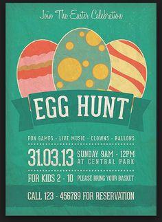 Easter Egg Frank Easter Egg Hunt Flyer Template Publisher  Easter
