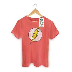 T-shirt Premium Masculina The Flash Logo #TheFlash #DCComics #bandUPStore