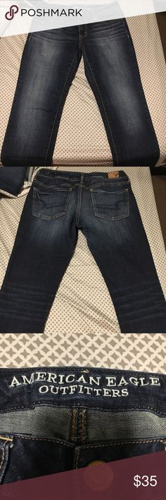 American Eagle Jeans American Eagle jeans  Super stretch jeggings Size 6-long American Eagle Outfitters Pants Skinny
