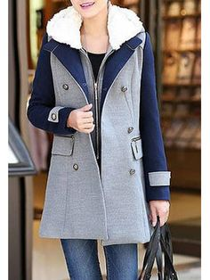 Hooded Single Breasted Zips Decorative Hardware Colouring Long Sleeve –  Grilchic. Tori Davenport · Clothes 69b9eafa9a85