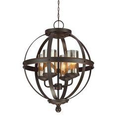 Sfera 4-light Autumn Bronze Mercury Glass Chandelier - Overstock™ Shopping - Great Deals on Seagull Lighting Chandeliers & Pendants