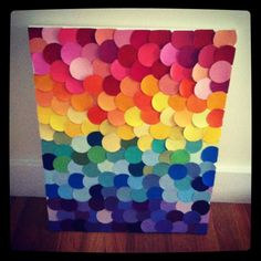 Paint chip wall art - this is something I might be able to do.   #voiceofcolor #stripecardpromo
