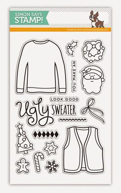 ugly sweater stamp set - Google Search