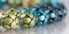 Výběr z bobulí Seed Bead Patterns, Beaded Jewelry Patterns, Bracelet Patterns, Beaded Earrings, Beaded Bracelets, Jewelry Crafts, Handmade Jewelry, Bracelet Tutorial, Beads Tutorial