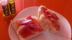 Tostada Aceite de Oliva virgen extra y jamón. http://www.oleoalmanzora.com/