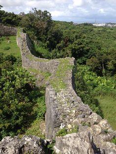 Naka gusuku castle in Okinawa Japan